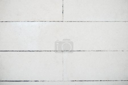 Photo for Background of arranged white tiles with copy space - Royalty Free Image