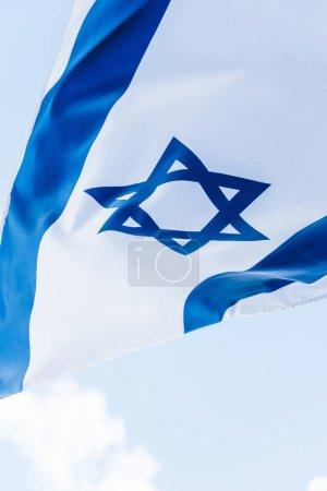 Photo pour Israël drapeau national avec étoile bleue de David - image libre de droit