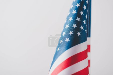 Photo for National flag of united states of america isolated on grey, memorial day concept - Royalty Free Image