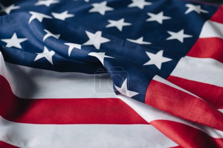 Photo for Folded flag of united states of america, memorial day concept - Royalty Free Image