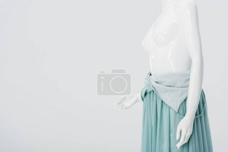 Photo for Mannequin in dress isolated on grey with copy space - Royalty Free Image