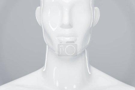 Photo pour Mannequin en plastique blanc isolé sur gris - image libre de droit