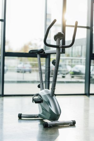 Photo for Modern elliptical machine at sports center - Royalty Free Image