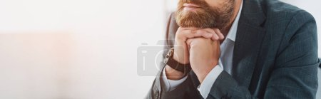 Photo for Panoramic shot of businessman in formal wear in office - Royalty Free Image