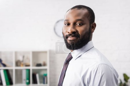 Photo for Selective focus of african american man looking at camera - Royalty Free Image