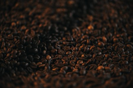 Brown aromatic roasted coffee beans texture