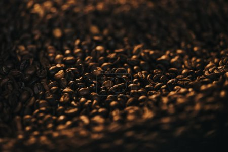 Aromatic hot coffee beans texture