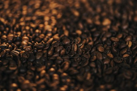 Roasted aromatic brown coffee beans