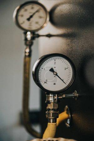 Pressure meter of professional industrial coffee roaster