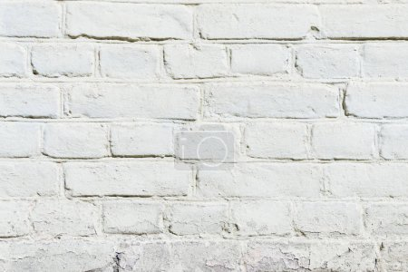 white brick wall texture, full frame view