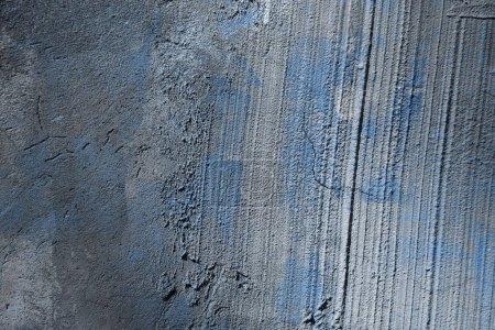 Photo for Old rough grey and blue concrete wall texture - Royalty Free Image
