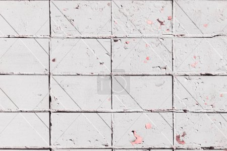 close-up view of white weathered wall textured background