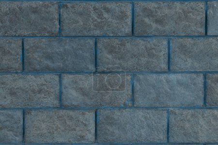 close-up view of grey brick wall textured background