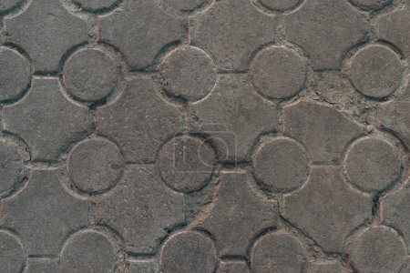 close-up view of old grey pavement textured background