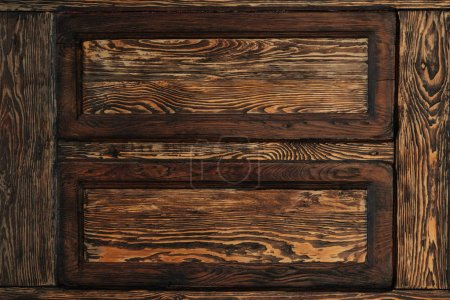 Photo for Close-up view of dark brown wooden background - Royalty Free Image