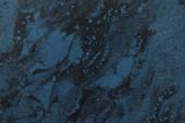 """Постер, картина, фотообои """"увеличенном черный и синий мрамор текстурированный фон"""""""