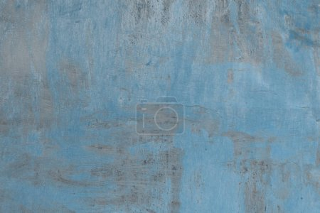 full frame of old weathered grey and blue concrete background