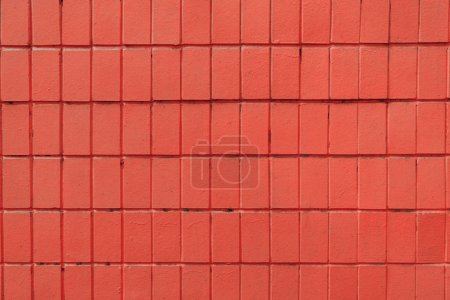 red wall with old bricks, full frame background