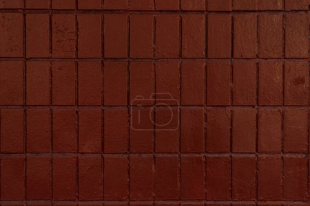 Photo for Dark brown wall with old bricks, full frame background - Royalty Free Image