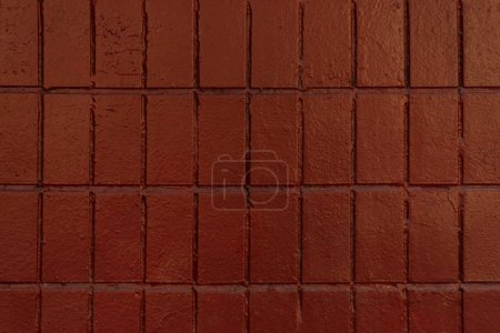 brown wall with old bricks, full frame background