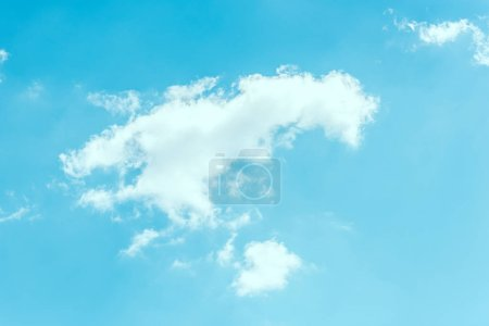 full frame image of bright blue cloudy sky background