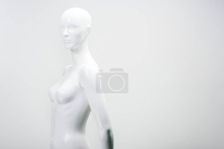 white female mannequin isolated on white
