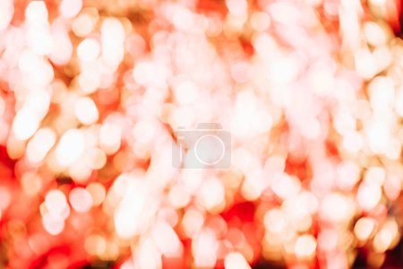 defocused abstract background with beautiful shiny golden and red bokeh lights