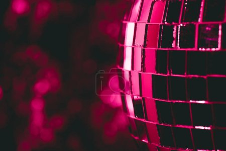 beautiful abstract background with glittering pink disco ball