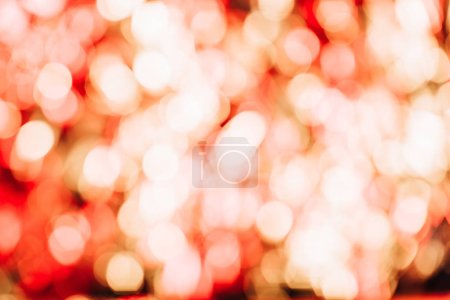 beautiful defocused abstract golden and red bokeh background