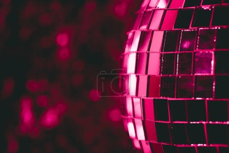 beautiful abstract background with shiny pink disco ball