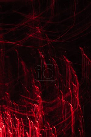 beautiful abstract red lights on dark background
