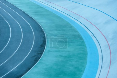 Foto de Fondo geométrico con líneas de color en el estadio - Imagen libre de derechos