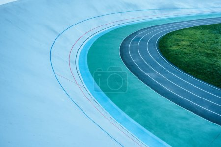 urban background with geometric lines of empty velodrome