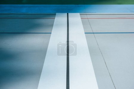 lines on empty velodrome, urban geometric background