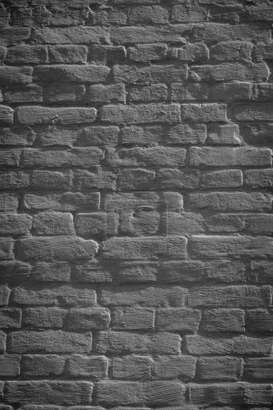 Photo for Dark grunge weathered brick wall background, full frame view - Royalty Free Image