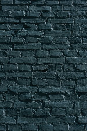 Photo for Full frame view of black grunge brick wall background - Royalty Free Image