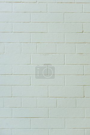 Photo for Close-up view of white textured brick wall background - Royalty Free Image