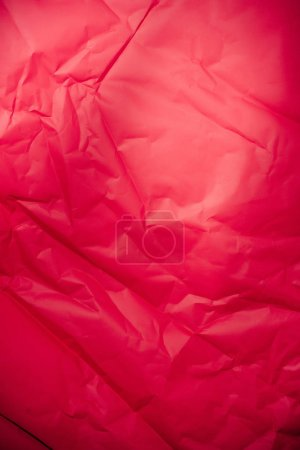 texture of vivid red crumpled paper