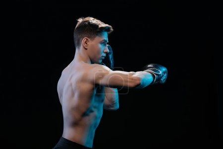 side view of muscular mma