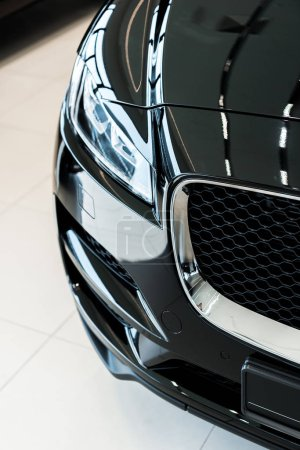 Photo for Black and shiny car in car showroom - Royalty Free Image