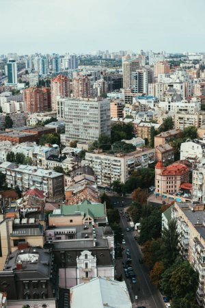 Photo for View of urban city with buildings and streets - Royalty Free Image