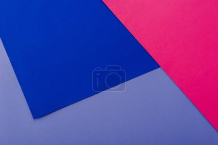 Photo for Abstract geometric background with lilac, pink, blue paper - Royalty Free Image