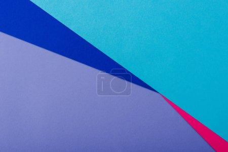 Photo pour Fond géométrique abstrait avec lilas, rose, papier bleu - image libre de droit