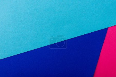 Photo for Abstract geometric background with pink, blue paper - Royalty Free Image