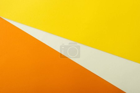 Photo for Abstract geometric background with white, yellow and orange bright paper - Royalty Free Image