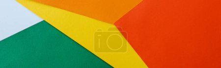 Photo for Abstract geometric background with colorful bright paper, panoramic shot - Royalty Free Image