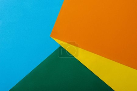 Photo for Abstract geometric background with colorful bright paper - Royalty Free Image