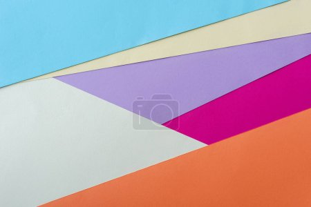 Photo for Abstract geometric background with colorful paper - Royalty Free Image