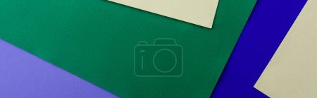 Photo for Abstract geometric background with colorful paper, panoramic shot - Royalty Free Image