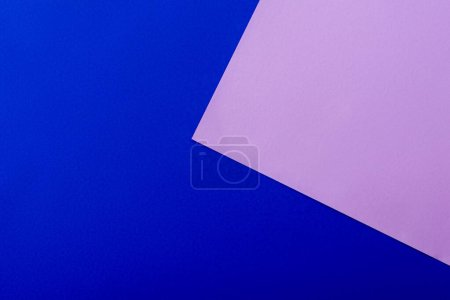 Photo for Abstract geometric background with blue and violet paper - Royalty Free Image